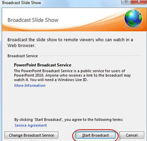 Hướng dẫn trình chiếu file PowerPoint 2010 qua Internet - 2