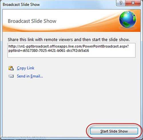 Hướng dẫn trình chiếu file PowerPoint 2010 qua Internet - 3