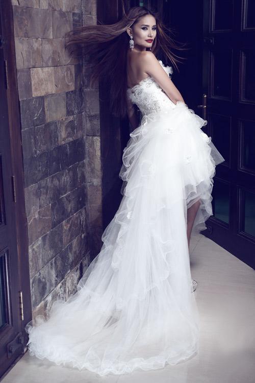 Kim Minh gợi cảm quá đỗi với váy cưới - 10