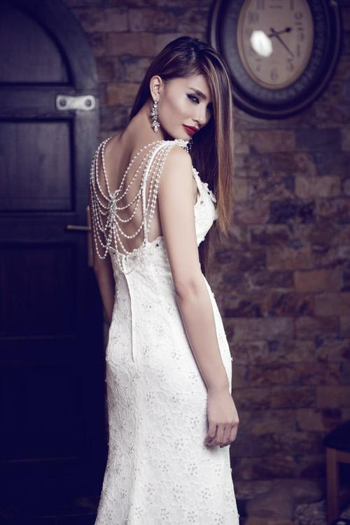 Kim Minh gợi cảm quá đỗi với váy cưới - 3