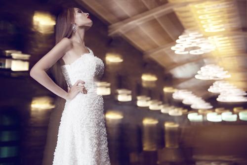Kim Minh gợi cảm quá đỗi với váy cưới - 5