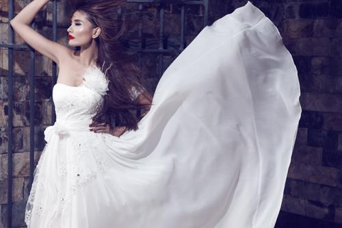 Kim Minh gợi cảm quá đỗi với váy cưới - 7