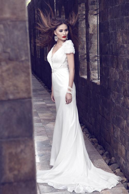 Kim Minh gợi cảm quá đỗi với váy cưới - 8