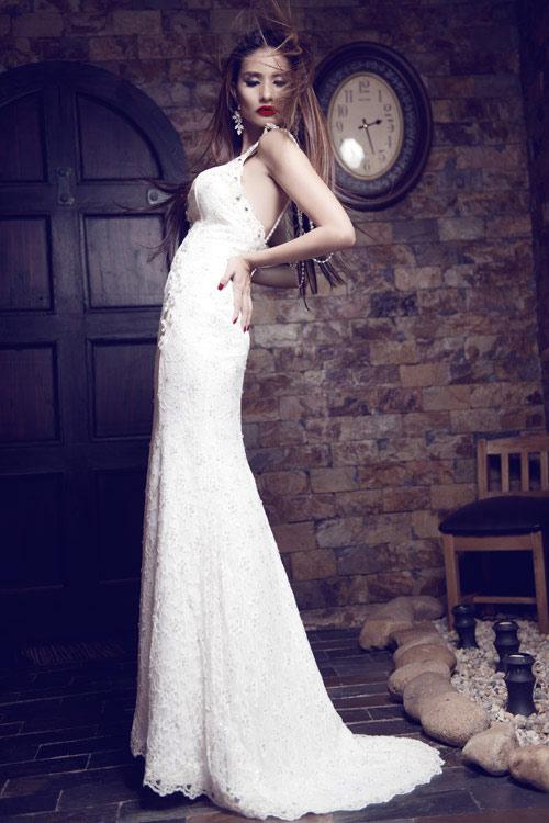 Kim Minh gợi cảm quá đỗi với váy cưới - 2