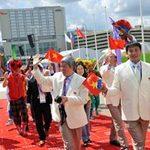 Olympic 2012 - Lễ kéo quốc kỳ của đoàn Thể thao Việt Nam