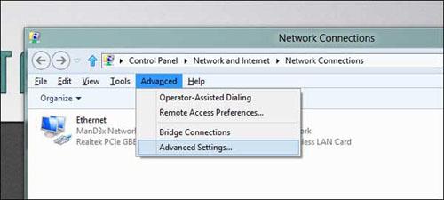 Cài đặt để laptop ưu tiên kết nối mạng có dây - 3