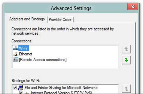 Cài đặt để laptop ưu tiên kết nối mạng có dây - 4