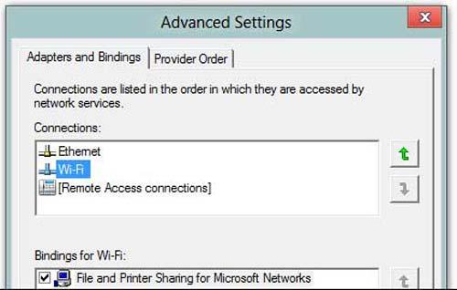 Cài đặt để laptop ưu tiên kết nối mạng có dây - 5