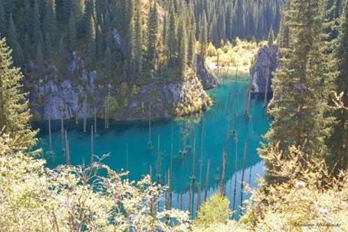 Kaindy - hồ nước kỳ lạ nhất thế giới - 7