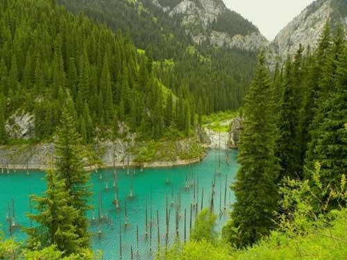 Kaindy - hồ nước kỳ lạ nhất thế giới - 9