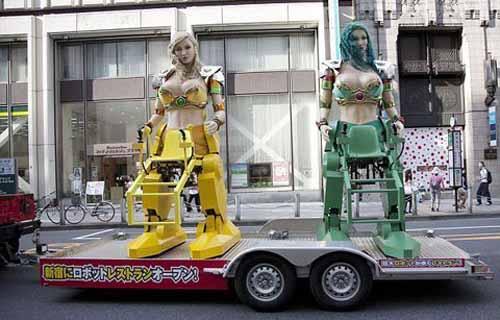 """Quán ăn hút khách bằng """"vũ nữ robot"""" - 5"""
