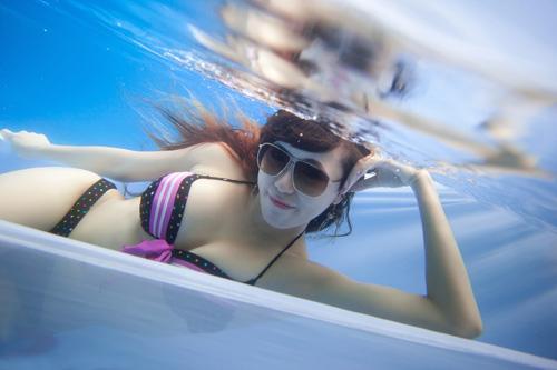 Hot girl Mai Thỏ gợi cảm dưới nước - 14