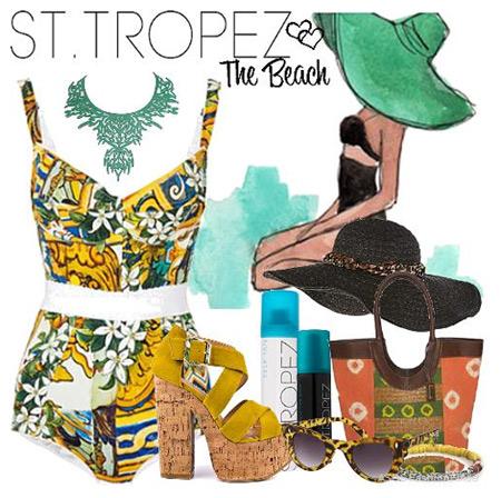 Lựa chọn trang phục đi biển ngày cuối hè - 1