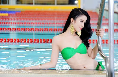 Diệp Anh diện bikini khoe ba vòng sexy - 7