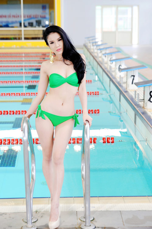 Diệp Anh diện bikini khoe ba vòng sexy - 5