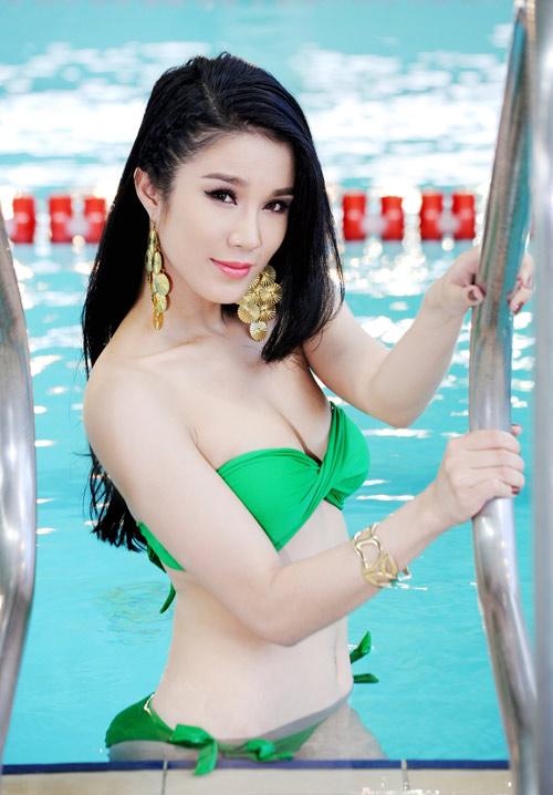 Diệp Anh diện bikini khoe ba vòng sexy - 14