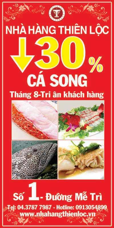 Ưu đãi 30% cá song tại nhà hàng Thiên Lộc - 1