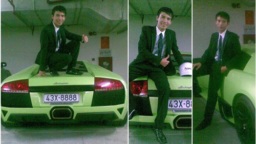 Bo nc ngoi &quot;chong&quot; v Lamborghini b gim ti Vit Nam,  t - Xe my, giam dap len chiec Lamborghini LP640, giam dap len Lamborghini LP640 mau xanh, giam dap len Lamborghini LP640, thanh nien giam len sieu xe, giam len sieu xe, sieu xe Lamborghini LP640, Lamborghini LP640 mau xanh com, sieu xe Lamborghini LP640 bi giam, o to, tin tuc o to, Lamborghini Murcielago LP640-4, gia Lamborghini Murcielago LP640-4