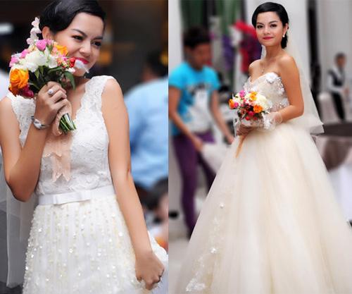 Cô dâu nào che bầu ngày cưới giỏi nhất? - 15