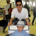 Ngôi sao điện ảnh - Khoảnh khắc hiếm của cha con Quang Dũng