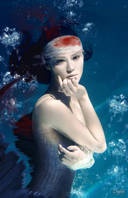 Mỹ nhân đẹp mê khi chụp hình dưới nước - 5