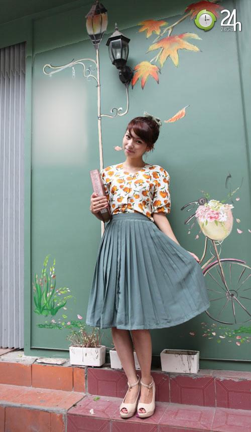 Chọn áo hoa vintage ngày cuối tuần - 2