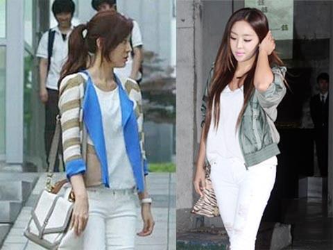Mặc skinny jeans chuẩn như Kim Ha Neul - 8