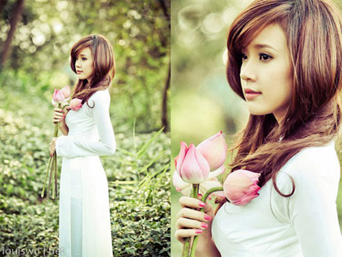 Hot girl Việt tinh khôi với áo dài trắng - 11