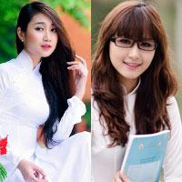 Hot girl Việt tinh khôi với áo dài trắng