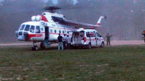 Hà Tĩnh: Thuê trực thăng cấp cứu vẫn mất chân - 2