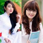 Bạn trẻ - Cuộc sống - Hot girl Việt tinh khôi với áo dài trắng