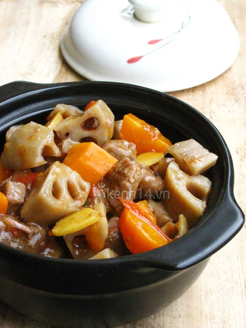 Bò kho củ sen thơm nức đưa cơm - 10