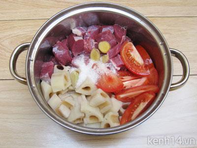 Bò kho củ sen thơm nức đưa cơm - 7