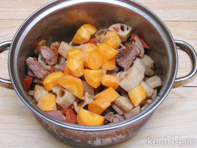Bò kho củ sen thơm nức đưa cơm - 9