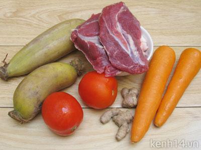 Bò kho củ sen thơm nức đưa cơm - 1