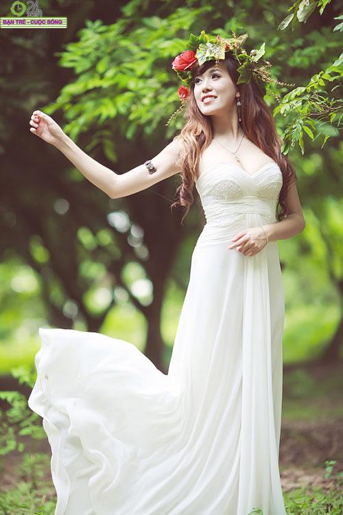 Hot girl Mai Thỏ hóa thành tiên nữ - 8
