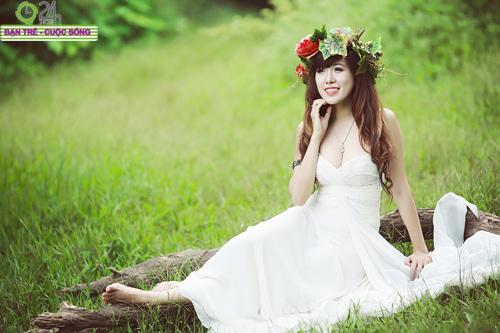 Hot girl Mai Thỏ hóa thành tiên nữ - 13