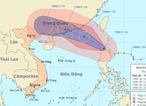 Bão Kai Tak tiến sát biển Đông - 1