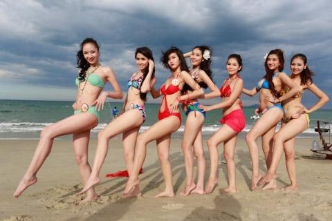 Thí sinh Hoa hậu Việt Nam đọ chân dài - 3