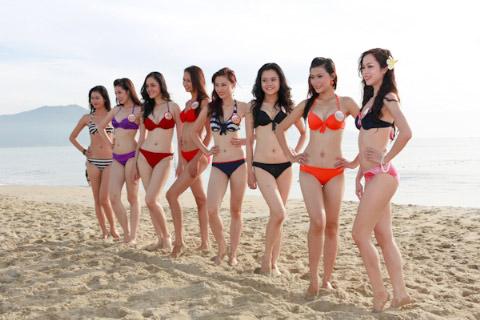 Thí sinh Hoa hậu Việt Nam đọ chân dài - 5