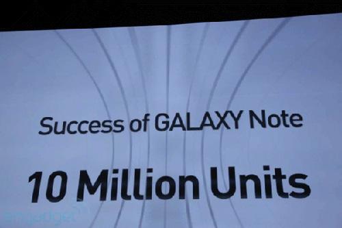 Galaxy Note đạt 10 triệu chiếc: Samsung mừng ra mặt - 1