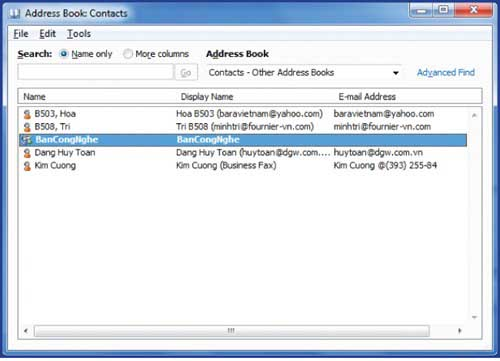 Tạo nhóm địa chỉ email trong MS Outlook 2010 - 3