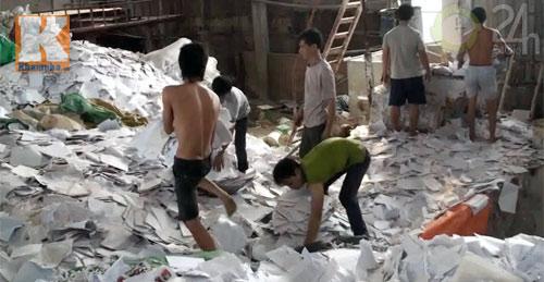 Rùng mình công nghệ sản xuất giấy ăn - 2