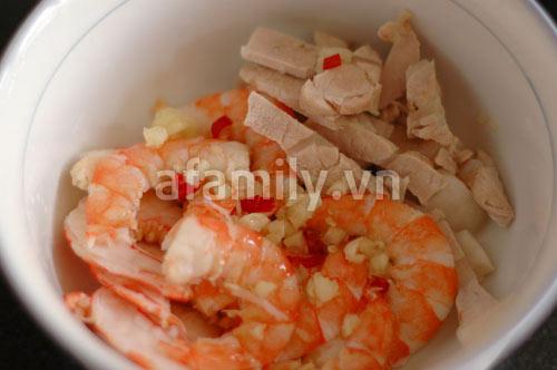 Giòn ngon gỏi rau muống tôm thịt - 6