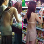 Phi thường - kỳ quặc - Cô gái thích khoe lưng khi mua sắm