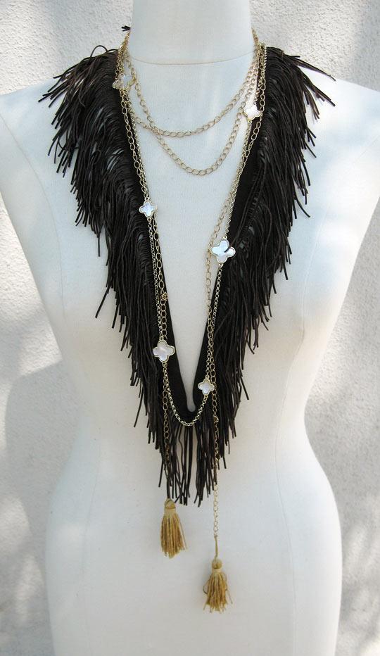 Chế vòng đeo cổ tua rua kiểu Bô-hê-miêng - 4
