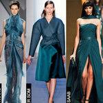 Thời trang - Mùa thu công sở với màu xanh cổ vịt