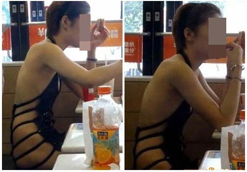 Cô gái ăn mặc kỳ lạ trên phố - 3