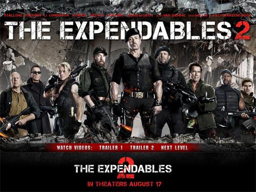 Biệt đội đánh thuê 2 giữ ngôi bá chủ, Phim, Top phim hay nhat,Expendables 2,Premium Rush,Hit and Run, bang xep hang, doanh thu phong ve, phim chieu rap, phim hanh dong, phim kinh di, phim hai