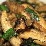 Ẩm thực - Ốc bươu xào chuối xanh: đậm hương vị Bắc